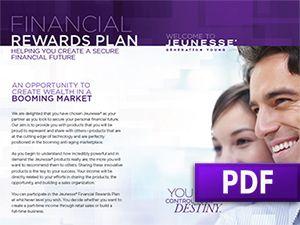 Jeunesse Financial Rewards Plan
