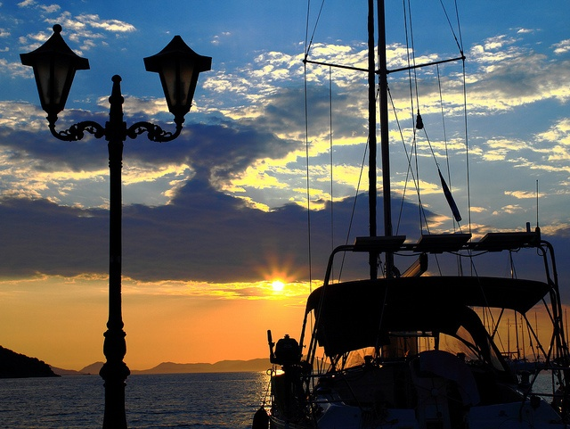Moored Boats & Sunset - Sivota - Greece