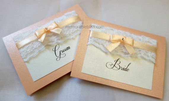 Elegant floral lace wedding place card with by MemorableBliss