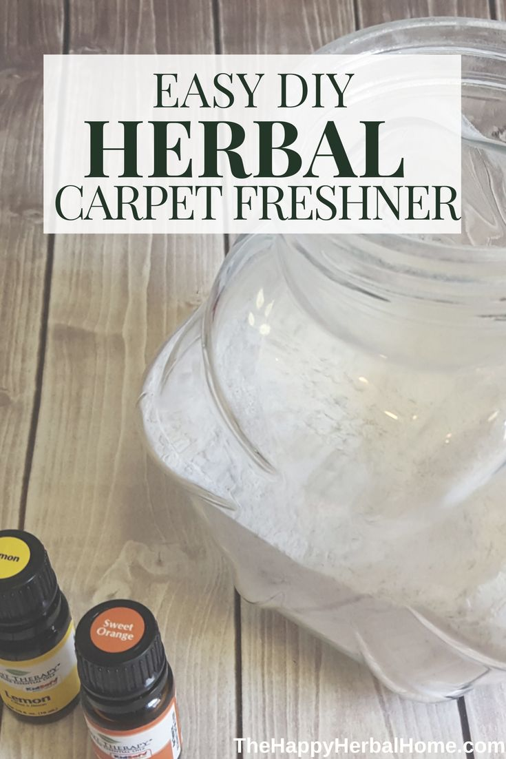Ditch the toxic cleaners, use this easy carpet freshener with herbs and essential oils via @The Happy Herbal Home