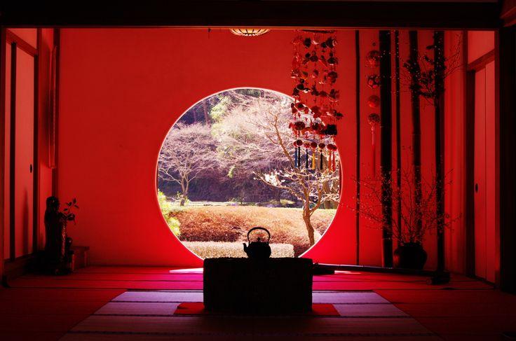 鎌倉明月院丸窓