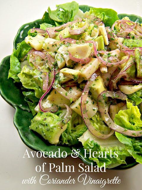 Olla-Podrida: Avocado & Hearts of Palm Salad with Coriander Vinaigrette