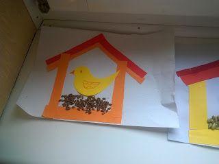 See-Saw: Madáretetők Színes papírból, ollóval-ragasztóval b...