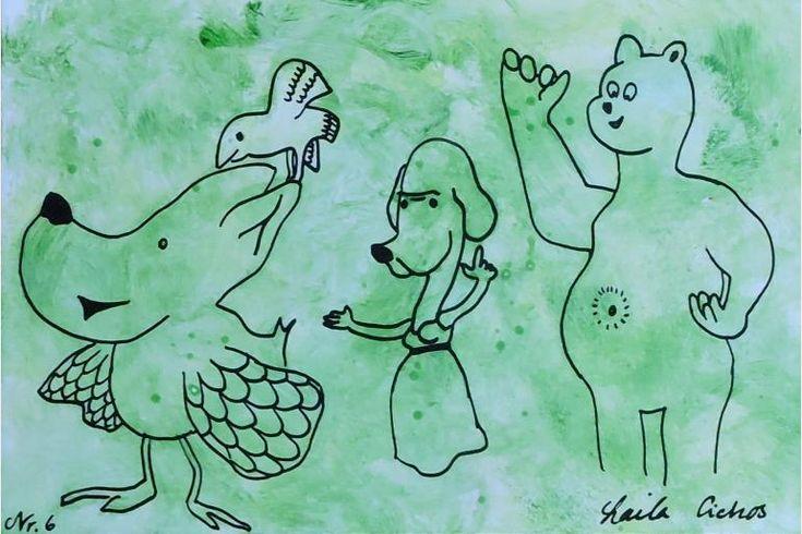 "Artmoney - unique piece of art doubling as a gift card ""Green money 6"""