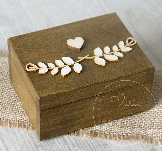 Rustykalne pudełko na obrączki