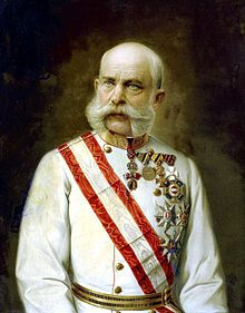 Franz Joseph I or Francis Joseph I (German: Franz Joseph I., Hungarian: I. Ferenc József, 18 August 1830 – 21 November 1916) was Emperor of Austria, King of Bohemia, King of Croatia, Apostolic King of Hungary, King of Galicia and Lodomeria and Grand Duke of Cracow from 1848 until his death in 1916. From 1 May 1850 until 24 August 1866 he was President of the German Confederation