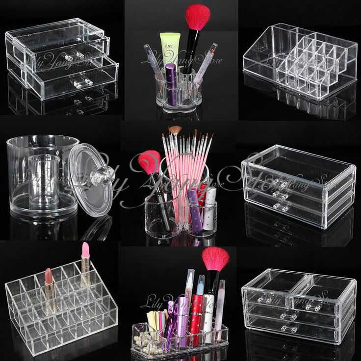 "Acrylic Cosmetic Makeup Case Lipstick Jewellery Nail Box Holder Organizer Drawer | eBay 15.36 ש""ח"