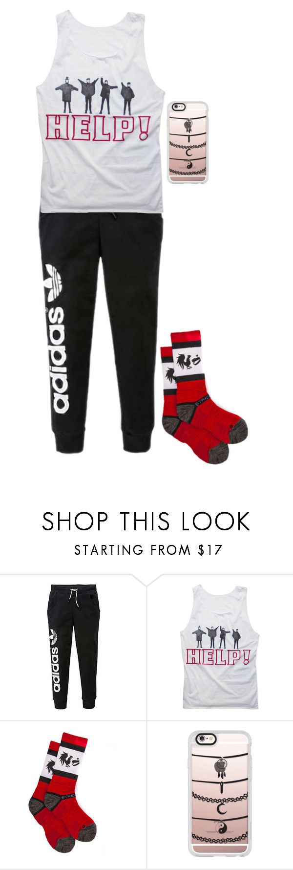 """Watching Big Brother After Dark"" by fandomsmyfriend ❤ liked on Polyvore featuring adidas Originals, Strideline and Casetify"