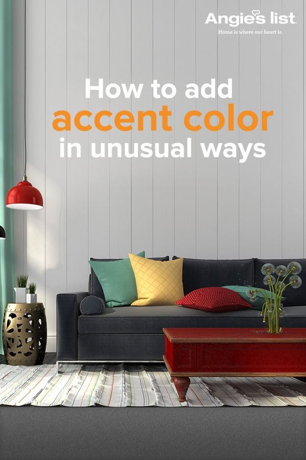 Be bold! Make a statement! A little color can go a long way. Find out how you can spice up your home's interior with a bright hue. Visit AngiesList.com.