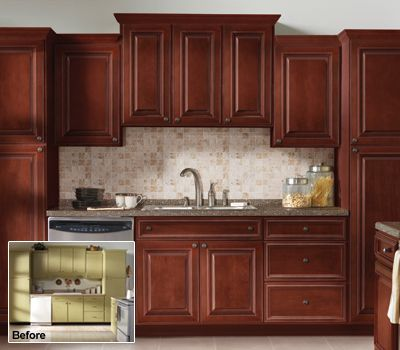 Kitchen Cabinet Refacing | Refinishing U0026 Resurfacing Kitchen Cabinets | The Home  Depot (reface Cabinets