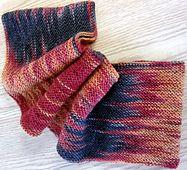 DaVinci Cowl...Project knit in garter stitch by Bambi