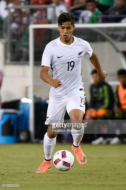 Moses Dyer of New Zealand plays against Mexico at Nissan Stadium on October 8 2016 in Nashville Tennessee