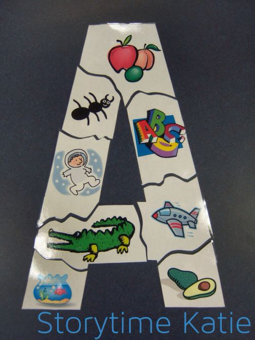 Letter Puzzles -  Made using Microsoft Office clipart / Storytime katie