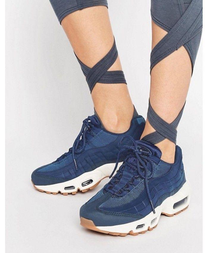 Nike Air Max 95 Premium Blue Trainers | Nike air max 95, Air max ...