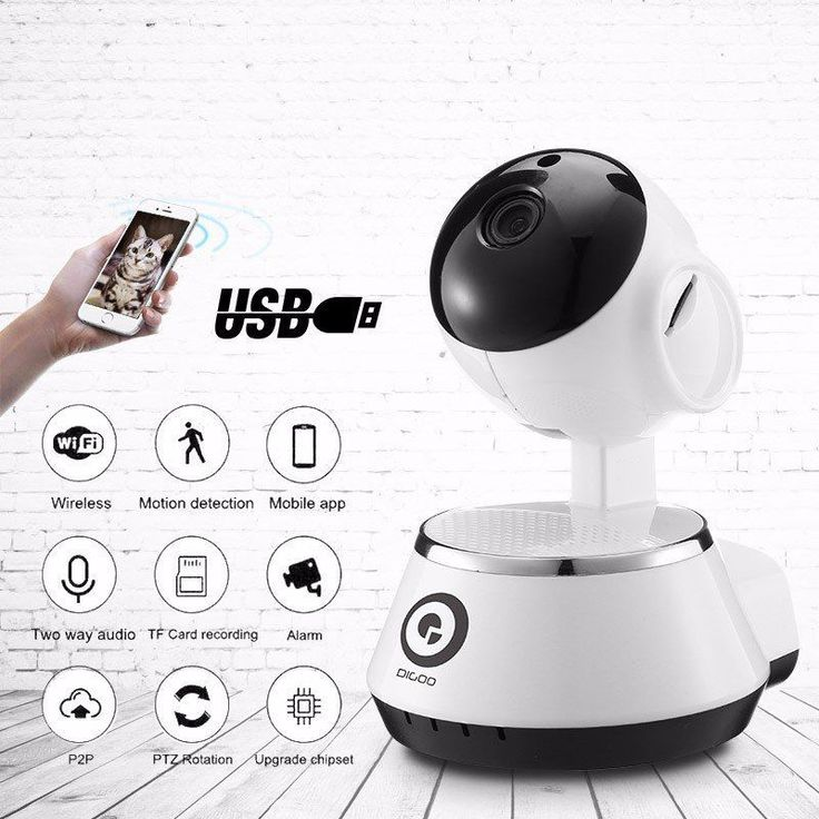 Wireless WiFi USB Baby Monitor Alarm Home Security IP Camera HD 720 Track Number