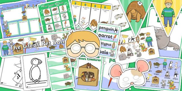 The Great Pet Sale Story Sack - pets, animals, stories, books