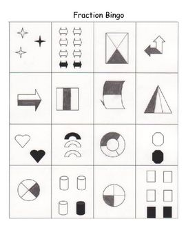 fraction bingo math classroom homeschool math elementary math. Black Bedroom Furniture Sets. Home Design Ideas