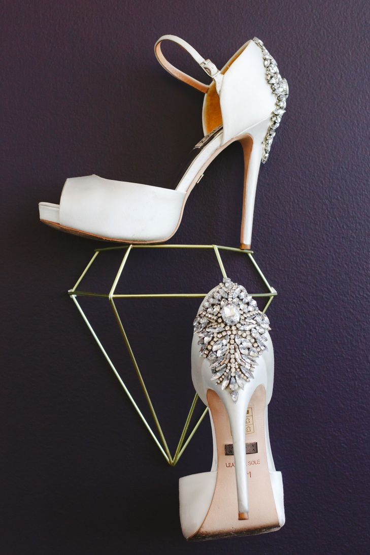 Ivory Shoes with Crystal Accents   Elite Events   Mary Wyar Photography https://www.theknot.com/marketplace/mary-wyar-photography-toledo-oh-367317