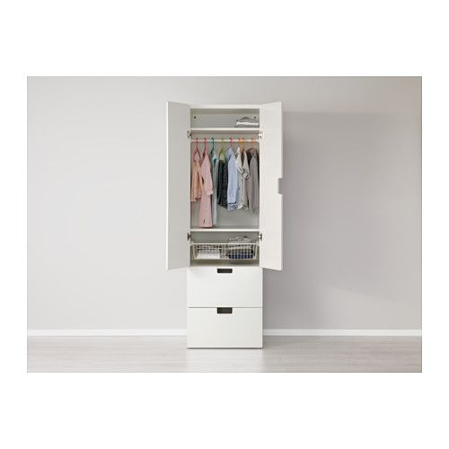 STUVA Storage combination w doors/drawers - white/white - IKEA
