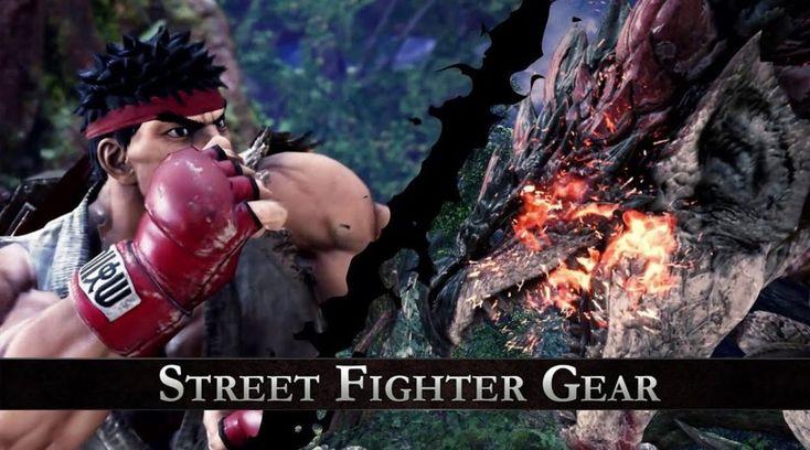 ICYMI: Une collaboration entre Monster Hunter World et Street Fighter V!: Le combattant aux pieds nus et bandeau rouge et son apprentie…