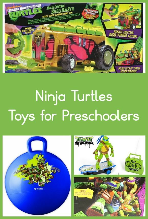 Teenage Mutant Ninja Turtles Toys for Preschoolers: We're celebrating the upcoming release of the new Teenage Mutant Ninja Turtles movie with a full week of  fun here on MyKidsGuide,