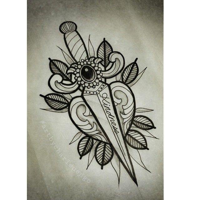 17 Best Ideas About Dagger Tattoo On Pinterest