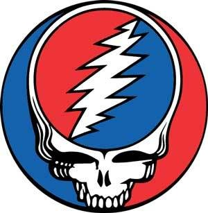 GD Steal Your Face, This iconography the skull and lightening bolt is evocative of a very dark piece of European history we all know, interestingly, they successfully co-opted it from those associations, no one who loves this emblem, and many of us do, would consider it even remotely aligned with the deaths head of the SS