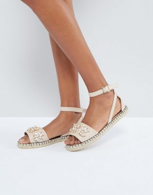 Miss Selfridge Embellished Espadrille Sandal
