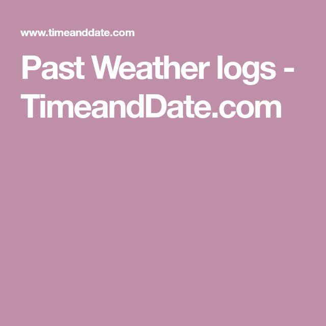 Past Weather logs - TimeandDate.com