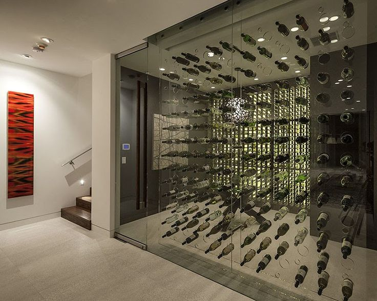 The wine storage at this Holy Hagy Belzberg-designed  $28.8 Million Dollar Estate