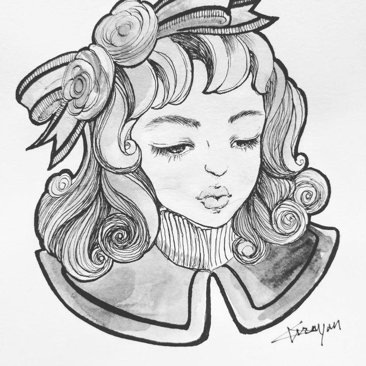 pen drawing -mono by Grayon