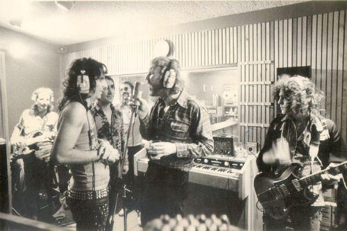 Harry Nilsson, Alice Cooper, Keith Moon, Ringo Starr, Marc Bolan 1973