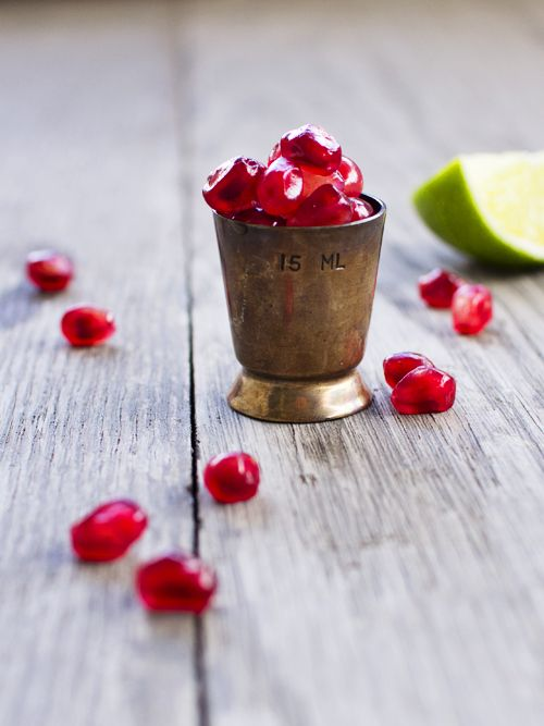 Pomegranate Gin Smash//spicy ice cream. The only thing that could make this better is Crunch Dynasty!