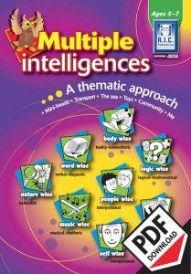 Multiple Intelligences is a series providing teaching and learning opportunities using the eight multiple intelligences through a thematic approach. There are six units of work based on popular topics with a worksheet and comprehensive teachers notes for each intelligence.