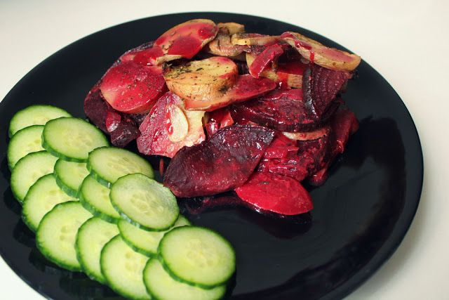 Dewii: Zapečené brambory s červenou řepou