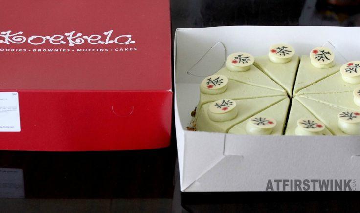 Koekela Rotterdam red box green tea birthday cake groene thee taart