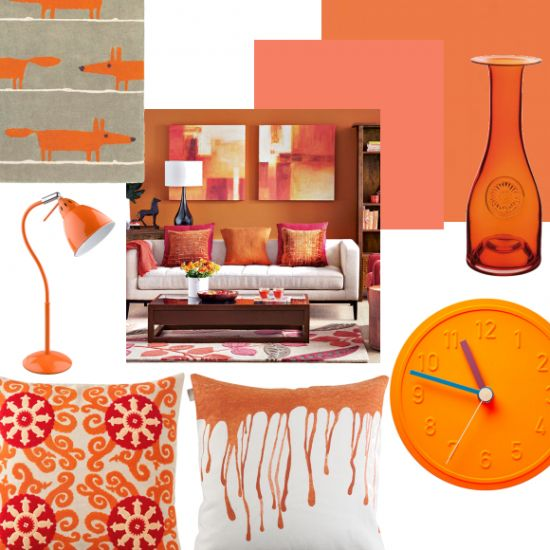 One of the most invigorating colours on the block, orange makes a real statement - see how to use it in your living room.