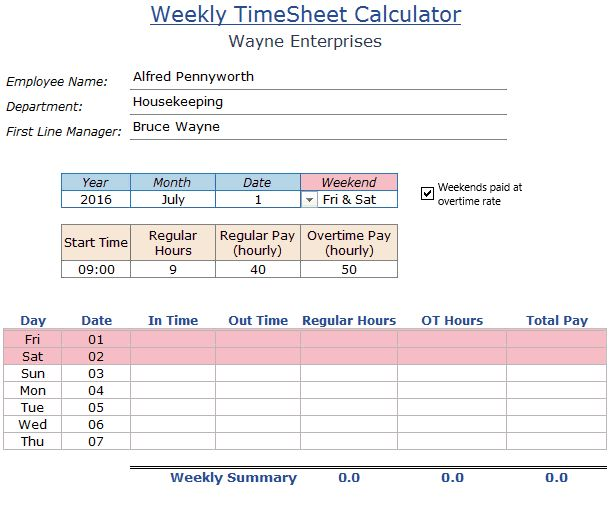 Cool financial dashboards Excel Pinterest Finanças - employee timesheet