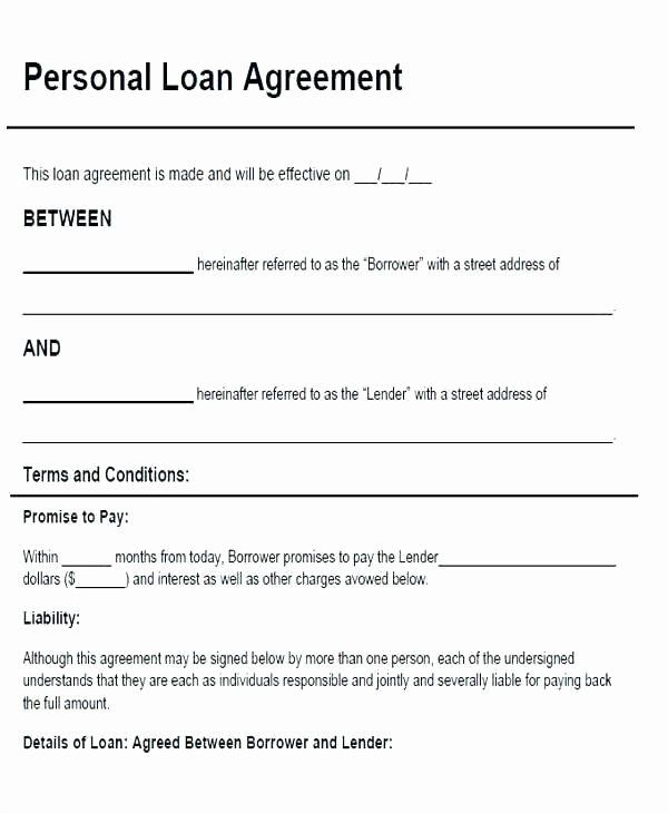 Personal Loan Agreement Template New Family Loan Contract Template Picture Family Loan Letter In 2020 Personal Loans Contract Template Loan