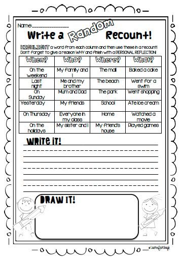 Recount Writing Literacy Centre.  Teach students how to write detailed, interesting and well structured recounts with these literacy centres and worksheets!
