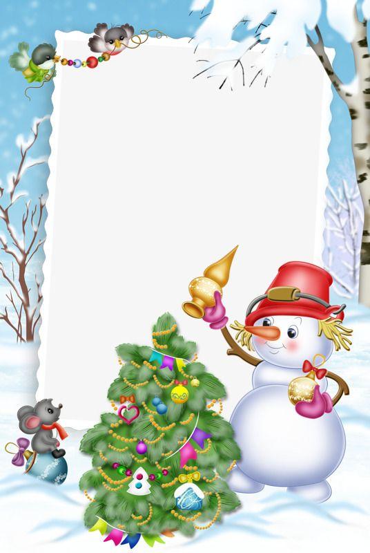 Marco de fondo de Navidad, Fondo De Dibujos Animados, Frame, Navidad Imagen PNG