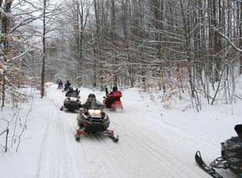 Snowmobiling in Pure Michigan