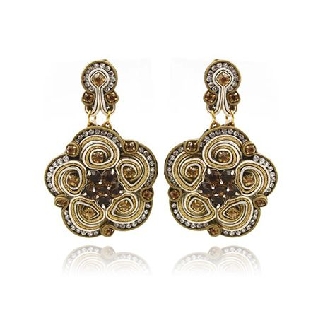 Dopodomani Jewels Earrings Mod. Rosa style soutache