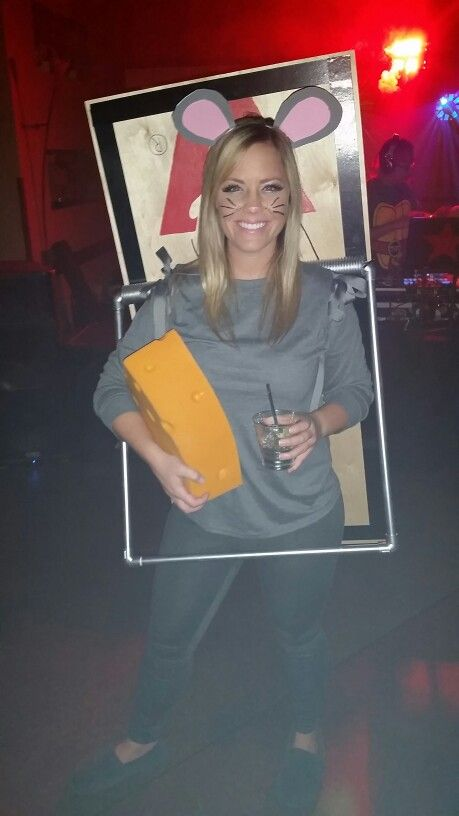Halloween 2015: Mouse in a trap! #homemade #costume #diy #cheesehead #mousetrap #halloween