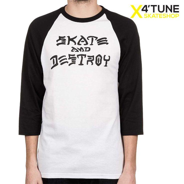 Thrasher - Skate and Destroy Raglan (Siyah) - X'4Tune Kaykay Mağazası