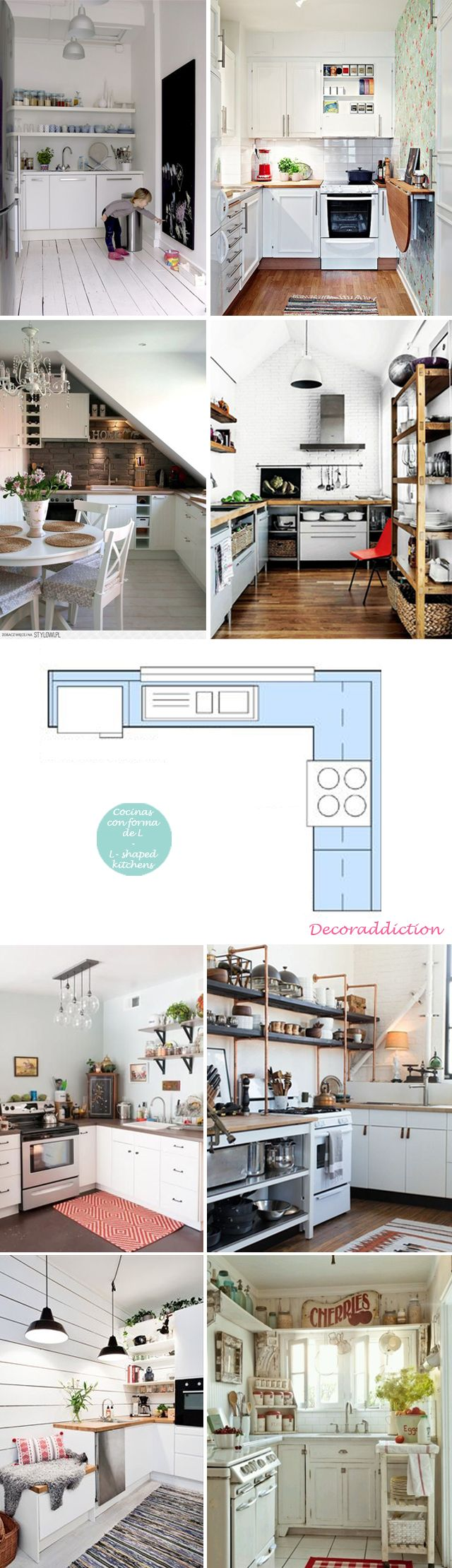 Cocinas pequeñas pero prácticas // Small but practical kitchens | http://www.decoraddiction.com/cocinas-pequenas-pero-practicas-small-but-practical-kitchens/