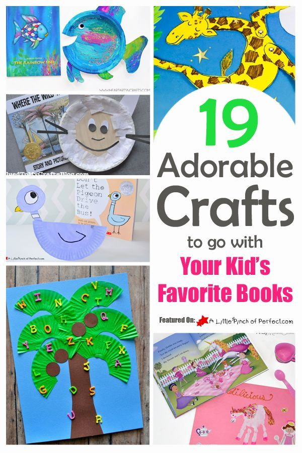 19 Adorable Crafts To Go With Your Kids Favorite Books | A Little Pinch of Perfect