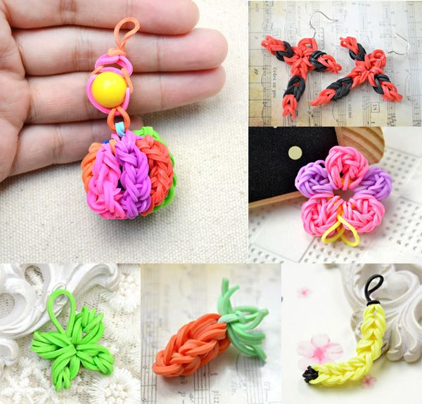 Rainbow loom charms to make with kids diy craft for Rubber band crafts without loom