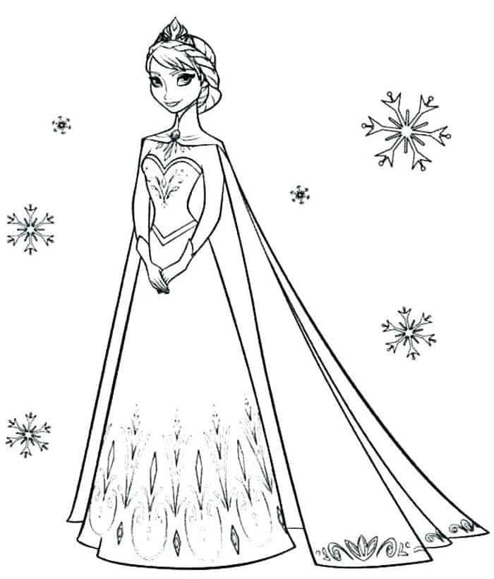 Printable Princess Coloring Pages In 2020 Elsa Coloring Pages Frozen Coloring Princess Coloring Pages