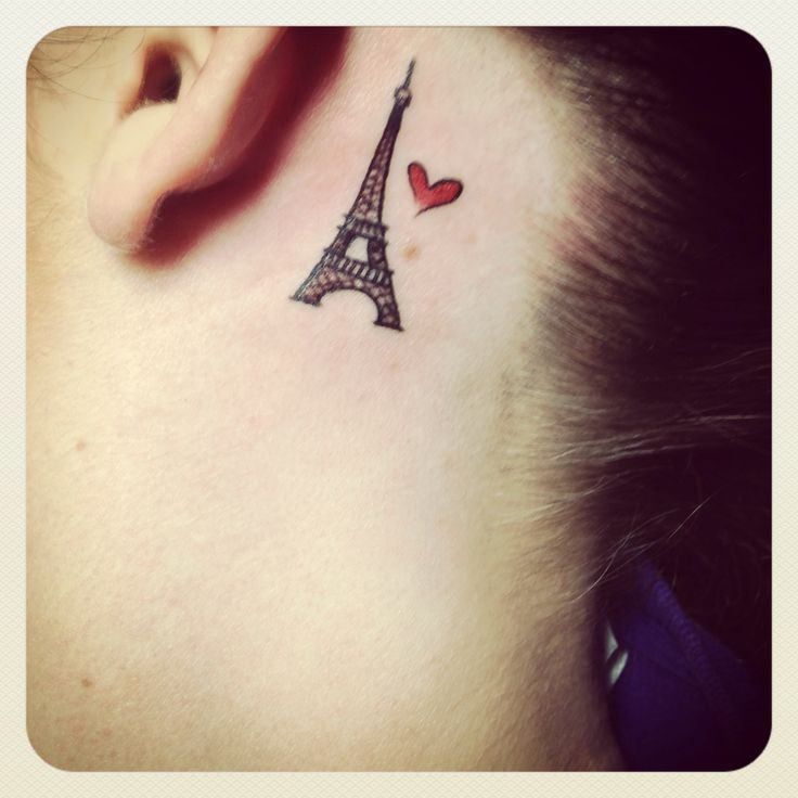 tiny eiffel tower tattoo - Google Search